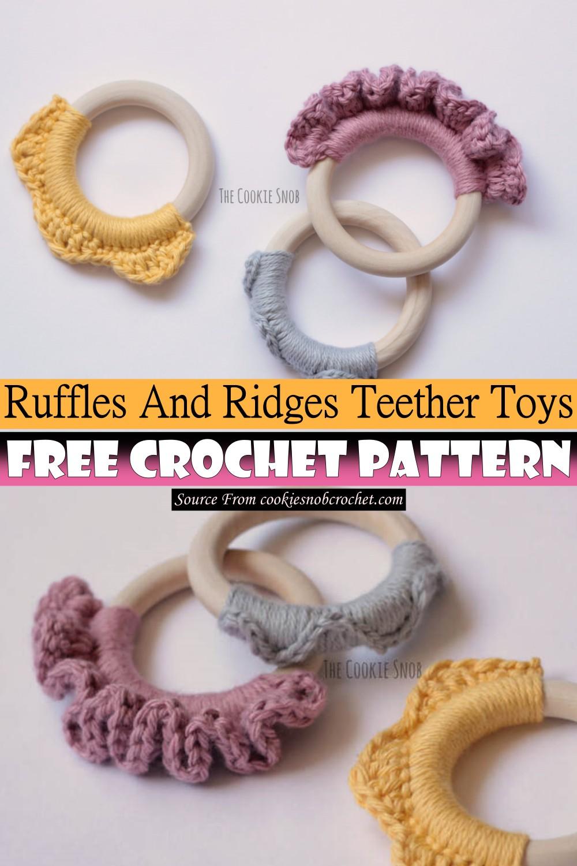 Crochet Ruffles And Ridges Teether Toys Pattern