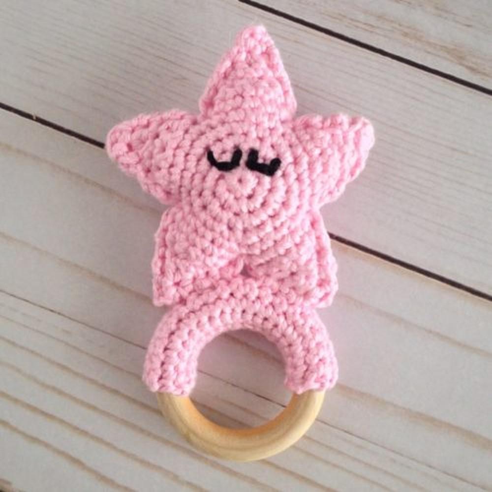 Crochet Sandy The Starfish Teething Ring Pattern