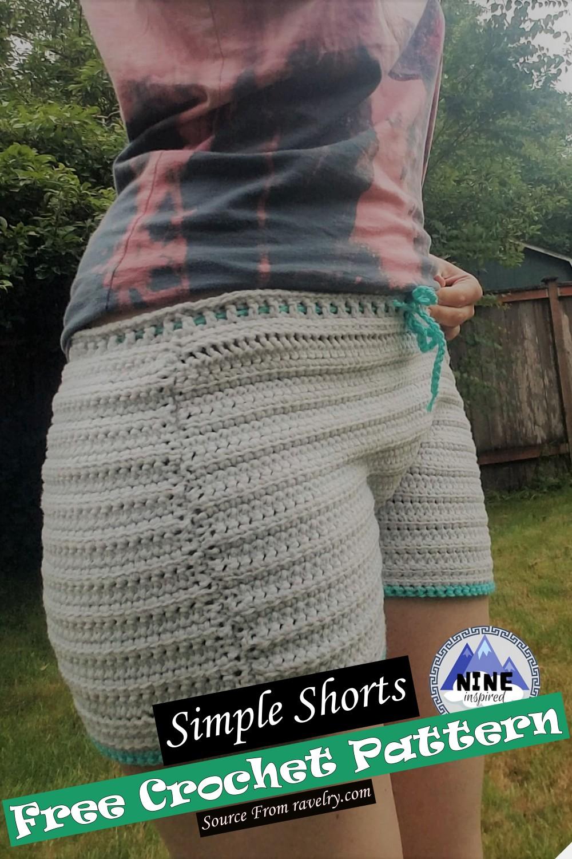 Crochet Simple Shorts Pattern