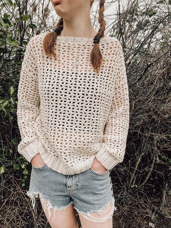 Crochet Spring Mesh Sweater Pattern