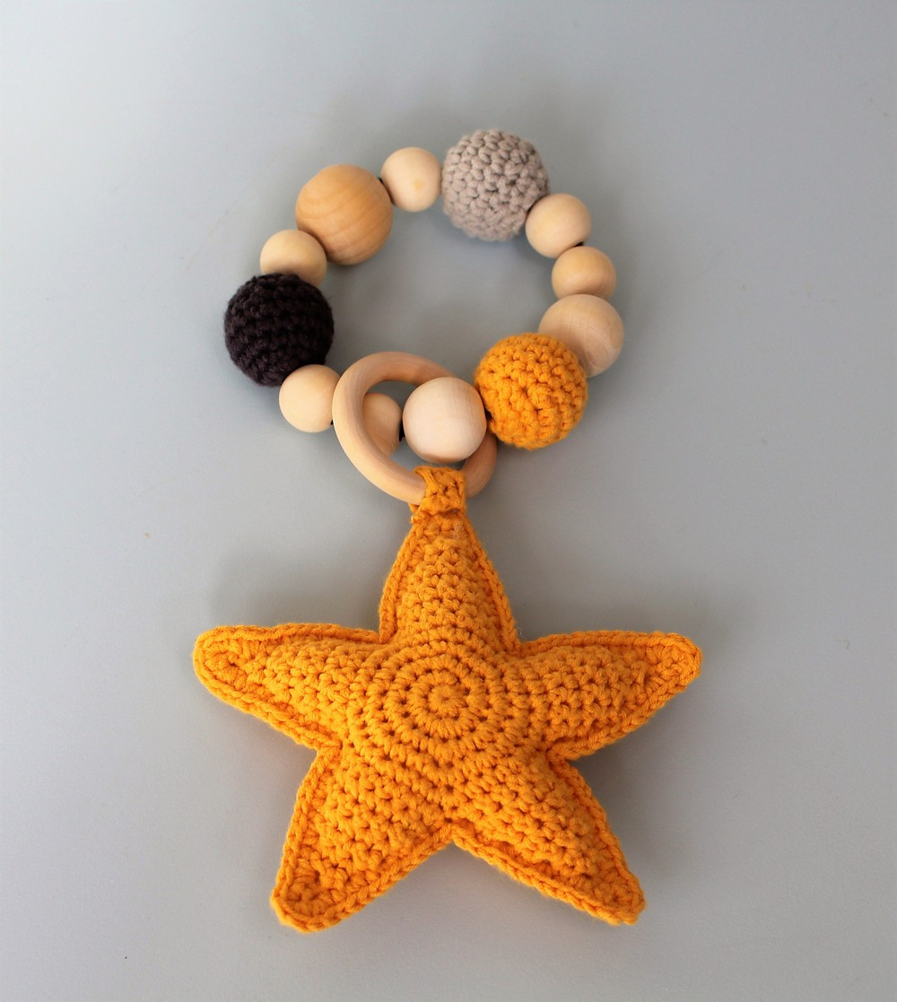Crochet Starfish Teething Ring Pattern