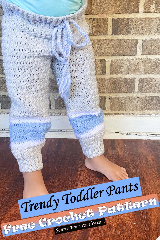 Crochet Trendy Toddler Pants Pattern