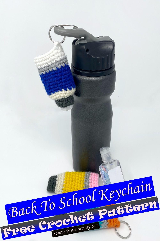 Free Crochet Back To School Keychain Pattern