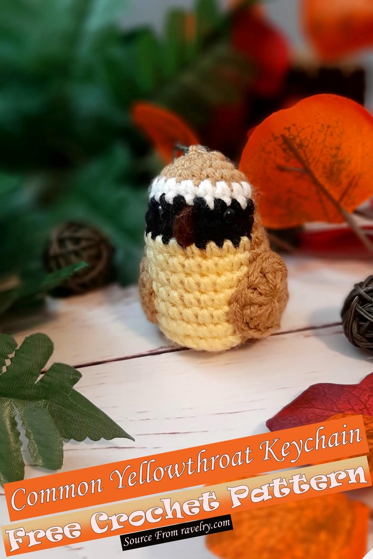 Free Crochet Common Yellowthroat Keychain Pattern