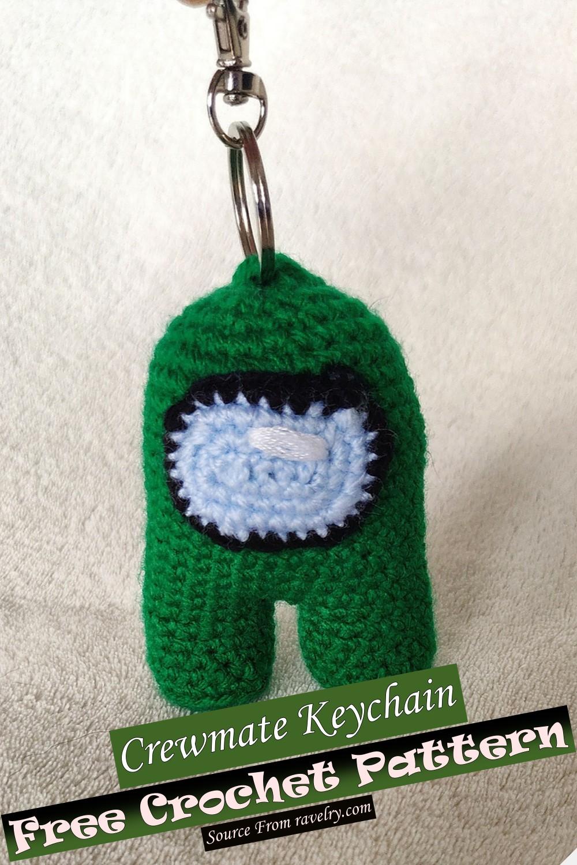 Free Crochet Crewmate Keychain Pattern