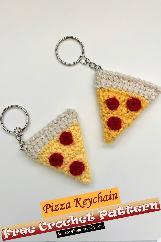 Free Crochet Pizza Keychain Pattern