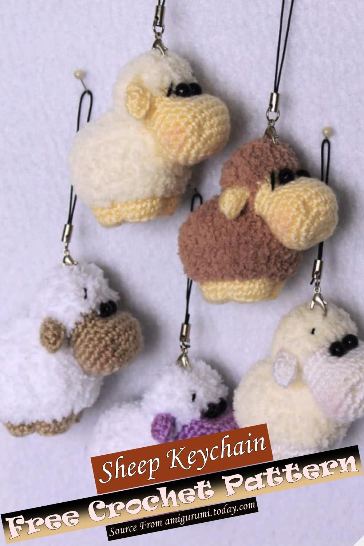 Free Crochet Sheep Keychain Pattern