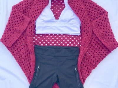 Granny Square Cardi Crochet Pattern