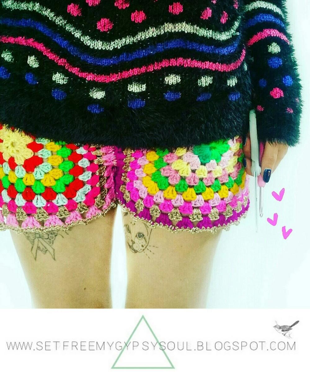 Granny Square Crochet Shorts Pattern