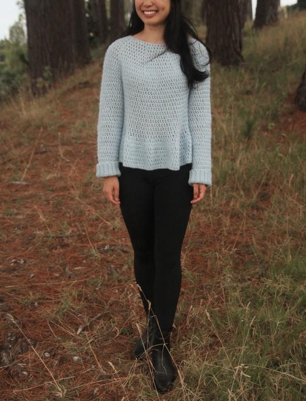 Peplum Crochet Sweater Pattern