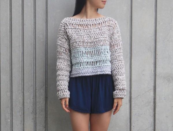 Sand Dune Sweater Crochet Pattern