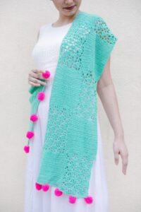 Seafoam Crochet Lace Shawl Pattern