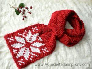 Snowflake Keyhole Scarf Crochet Pattern