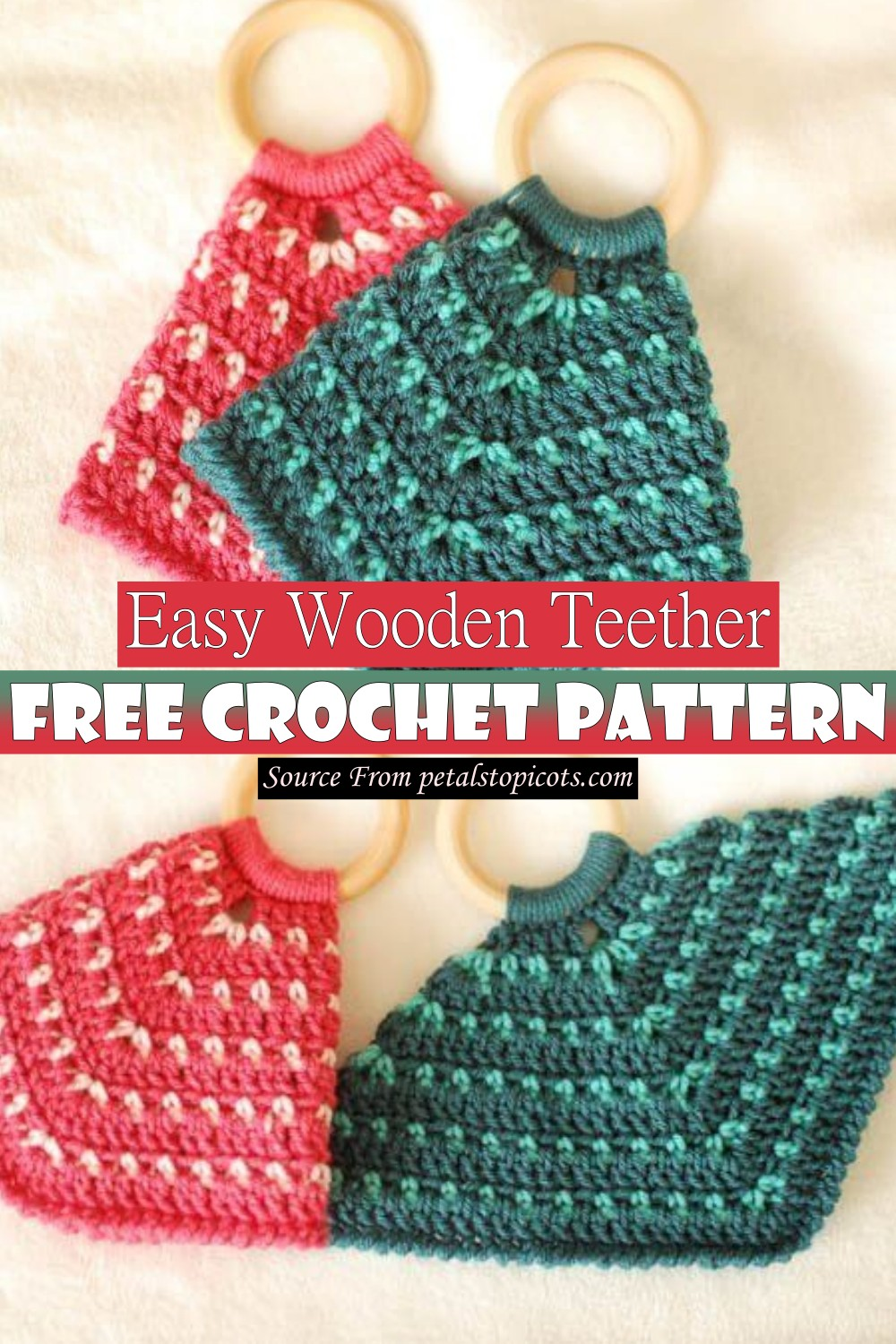 Two Color Teether Lovey Crochet Pattern