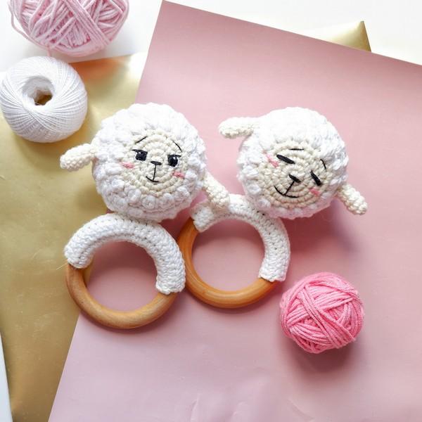 Baby Rattle The Lamb Zina Crochet Pattern