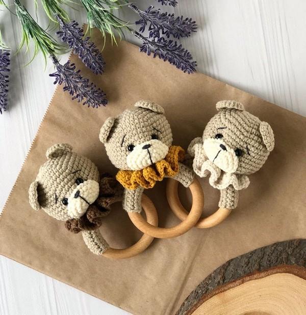 Bear Baby Rattle Crochet Pattern