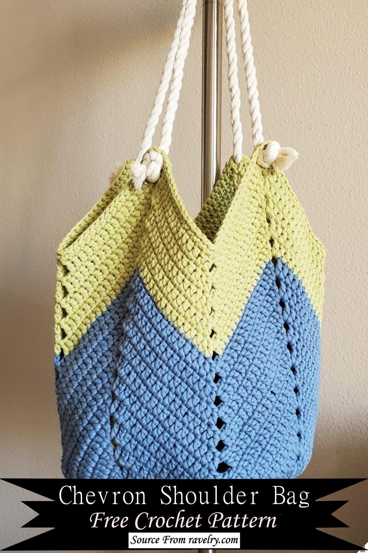 Crochet Chevron Shoulder Bag Pattern