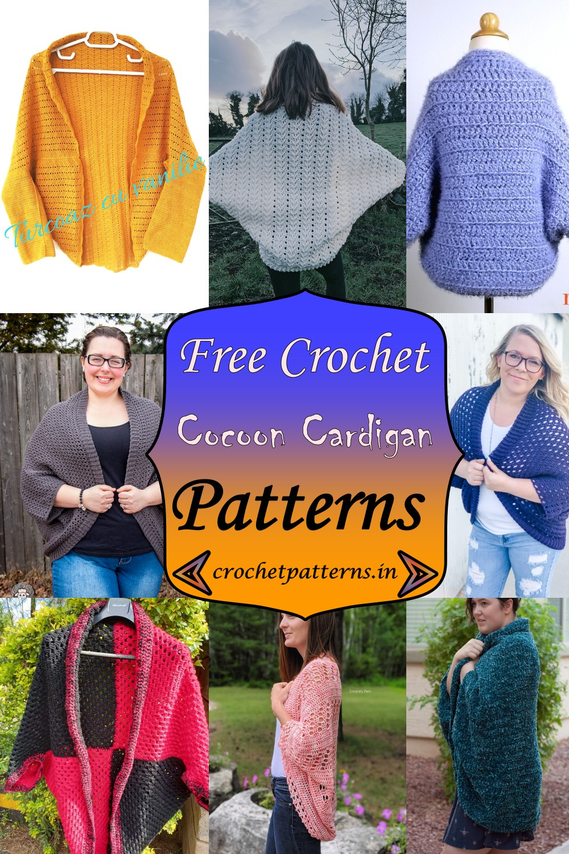 Crochet Cocoon Cardigan Patterns 1