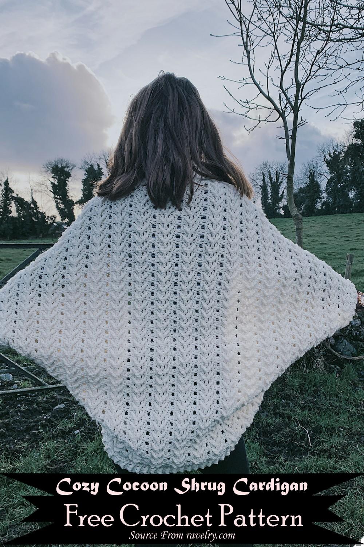 Crochet Cozy Cocoon Shrug Cardigan Pattern