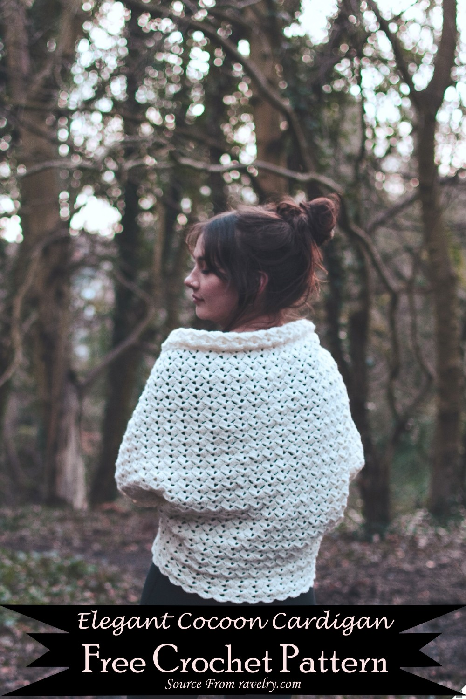 Crochet Elegant Cocoon Cardigan Pattern