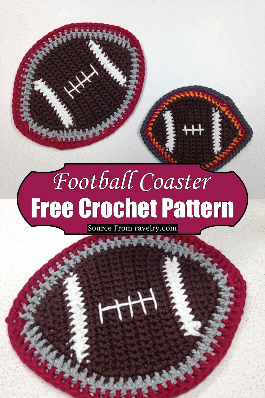Crochet Football Coaster Pattern