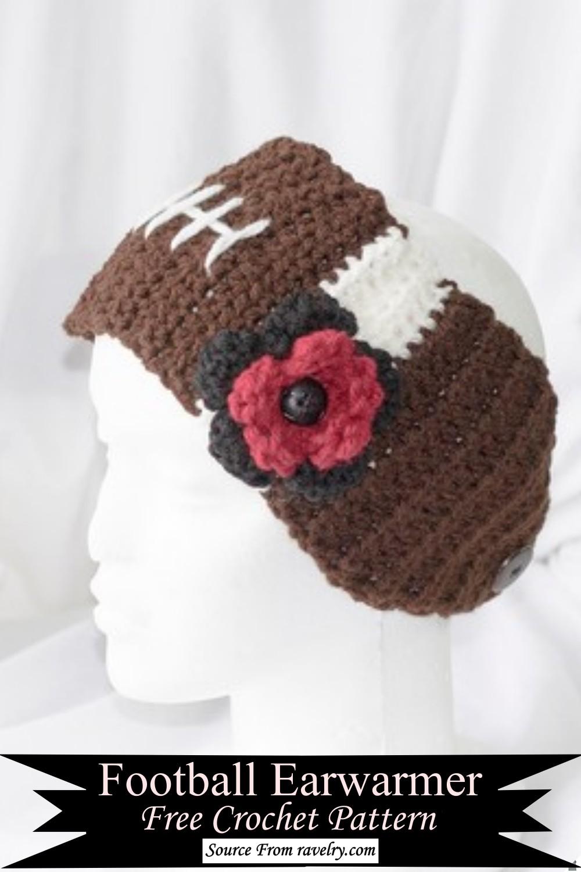 Crochet Football Earwarmer Pattern