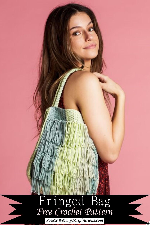 Crochet Fringed Bag Pattern
