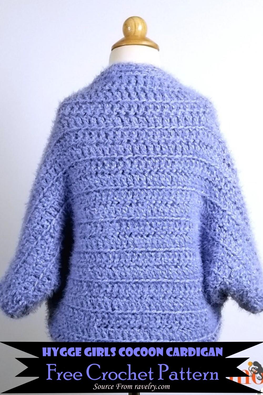 Crochet Hygge Girls Cocoon Cardigan Pattern