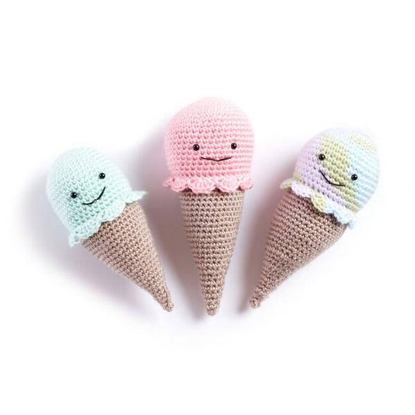 Crochet Ice Cream Cone Rattle Pattern