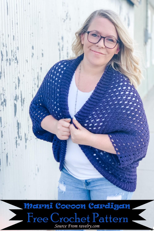 Crochet Marni Cocoon Cardigan Pattern