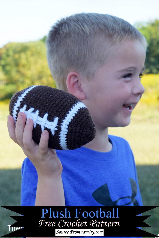 Crochet Plush Football Pattern