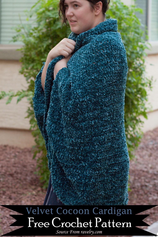 Crochet Velvet Cocoon Cardigan Pattern