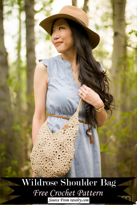 Crochet Wildrose Shoulder Bag Pattern