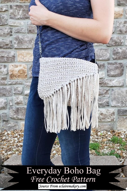 Everyday Boho Bag Free Crochet Pattern