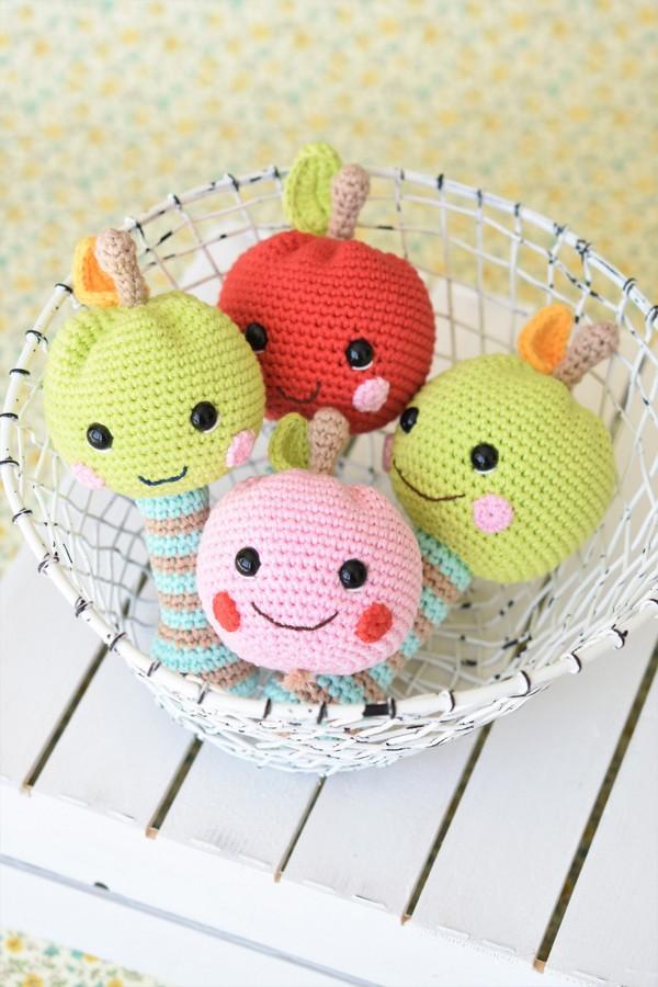 Happy Amigurumi Apple Rattle Crochet Pattern