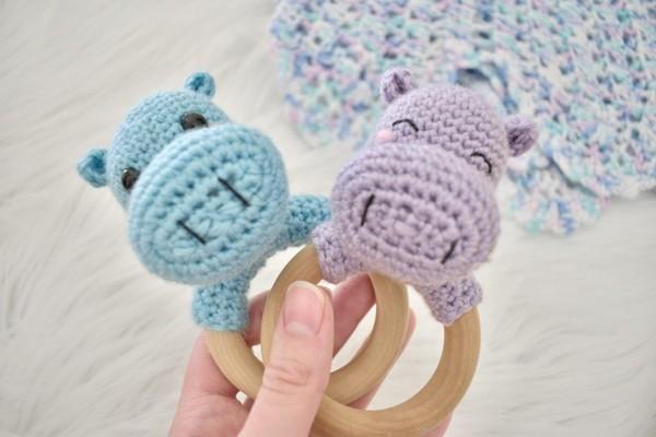 Hippo Rattle Crochet Pattern