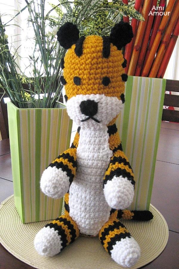 Hobbes Amigurumi Tiger Crochet Pattern