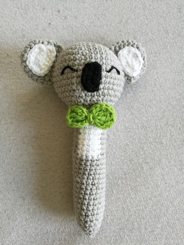 Koala Rattle Crochet Pattern