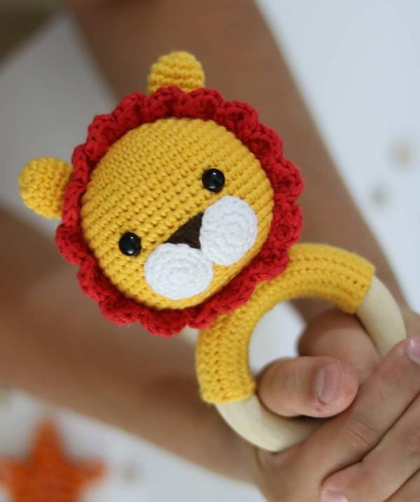 Leon Baby Rattle Crochet Pattern