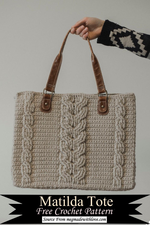 Matilda Tote Free Crochet Pattern