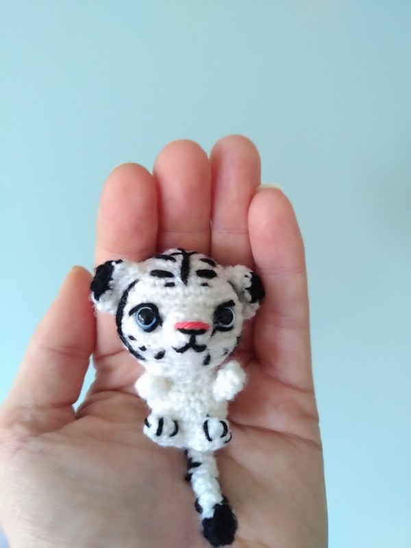 Mini White Tiger Crochet Pattern