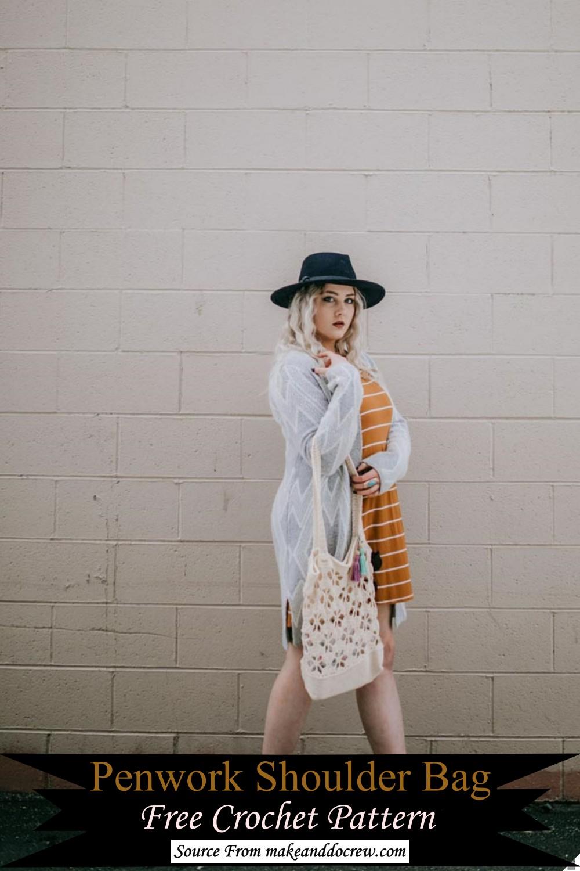 Penwork Crochet Shoulder Bag Pattern
