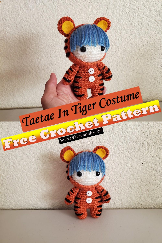 Taetae In Tiger Costume Pattern