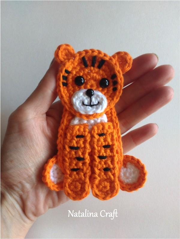 Tiger Applique Crochet Pattern