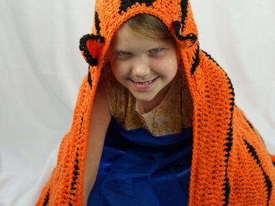 Tiger Hooded Blanket Crochet Pattern