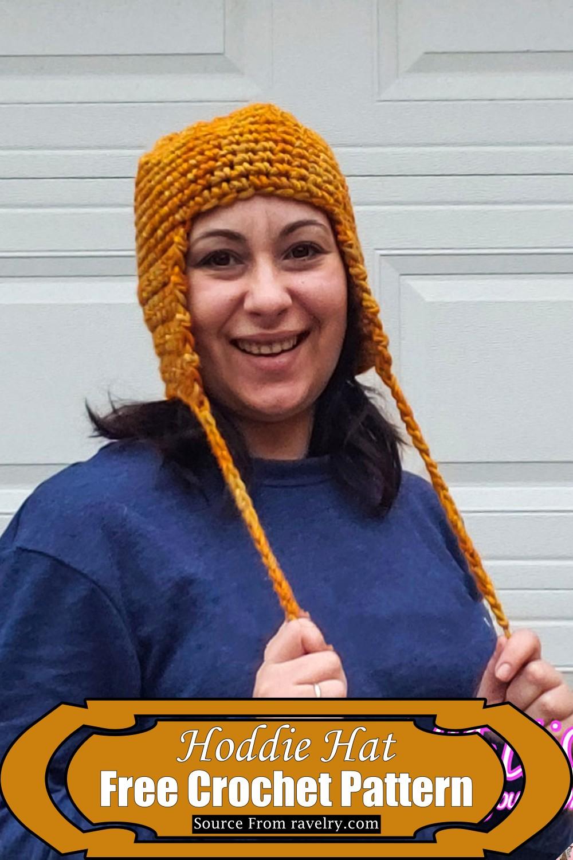 Crochet Hoddie Hat Pattern