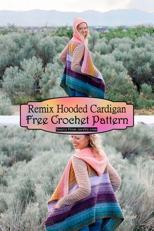 Crochet Remix Hooded Cardigan Pattern
